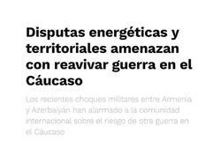 Meksikanın nüfuzlu mətbuat orqanı Ermənistanın son hərbi təxribatından yazdı - FOTO
