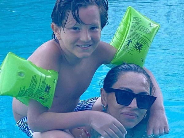 Günayın oğlu ilə yay tətili - FOTO