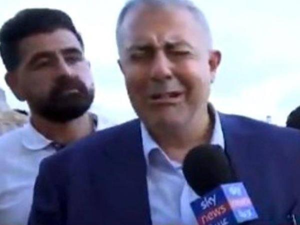 Beyrut qubernatoru ağladı - VİDEO