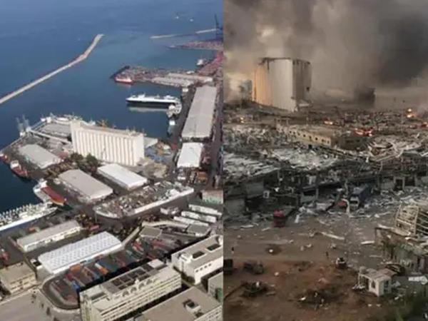 1 dəqiqə fərqlə Beyrut - Saniyələr içində xarabalığa dönən liman - FOTO