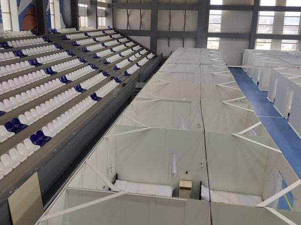 Abşeron Olimpiya İdman Kompleksi müvəqqəti olaraq modul xəstəxanaya çevrildi