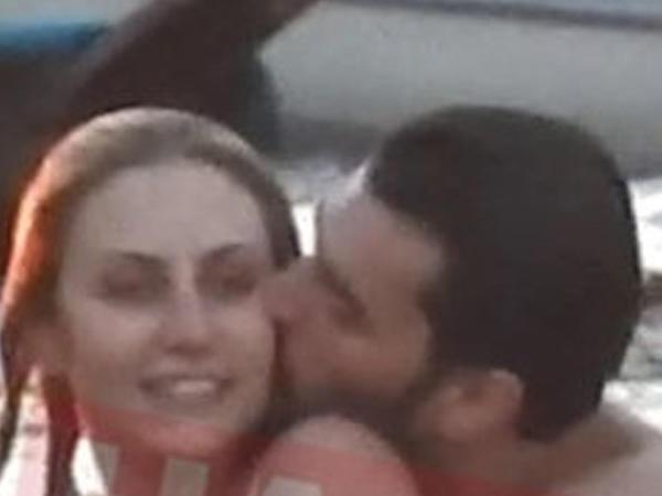 """""""Miran"""" sevgilisini öpüşlərə qərq etdi - FOTO"""