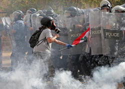 """Beyrutda nümayişçilər parlament və XİN binalarına girdilər, 130 yaralı var - <span class=""""color_red"""">YENİLƏNİB - FOTO</span>"""