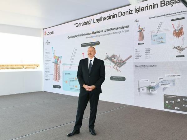 """Prezident İlham Əliyev: """"Qarabağ"""" neft yatağında daha böyük həcmdə təbii ehtiyatlar var"""