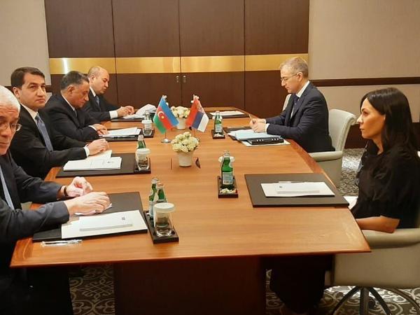 Serbiya Baş nazirinin müavini və Azərbaycan nümayəndələri arasında görüş keçirilir - FOTO