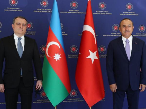 Ankarada Azərbaycan və Türkiyə Xarici İşlər nazirlərinin görüşü keçirilib - YENİLƏNİB - FOTO