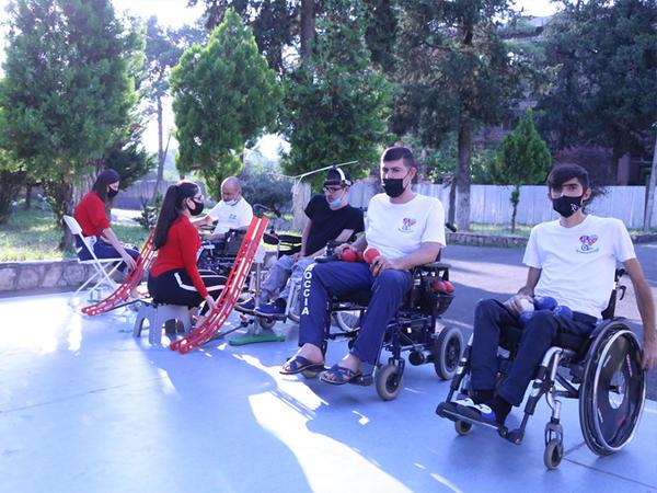 Boccia İdman Federasiyasının idmançıları təlim-məşq toplantısında - FOTO