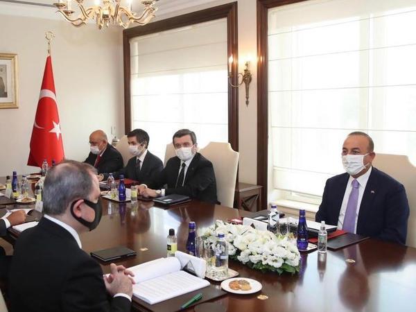 Ceyhun Bayramov Mövlud Çavuşoğlu ilə görüşüb - FOTO