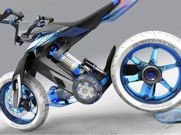 """Yamaha """"su"""" ilə dəstəklənən zəncirsiz motosiklet üzərində işləyir"""