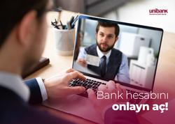 Cəmi 15 dəqiqəyə Unibankda onlayn sahibkar hesabı aç!