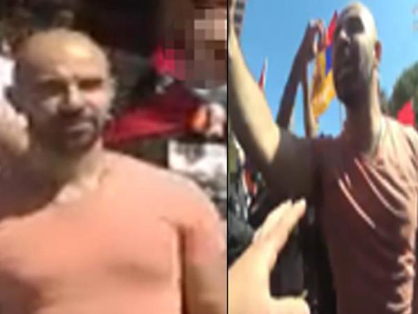 Bayrağımızı tapdalayan erməni axtarılır - FOTO