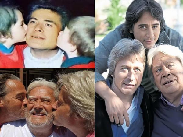 Cüneyt Arkın oğulları ilə 40 il əvvəl və sonra - FOTO