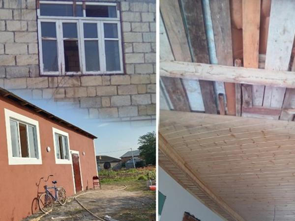 Tovuzda yaralanan əsgərin evi təmir olundu - FOTO