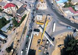 Sulutəpə dairəsində müxtəlif səviyyəli yol qovşağı inşa edilir - FOTO