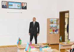 Prezident İlham Əliyev 154 nömrəli məktəbin açılışında iştirak edib - VİDEO - FOTO