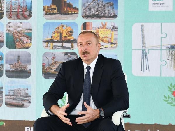 """Prezident İlham Əliyev: """"""""Abşeron"""" qaz-kondensat yatağının yeni mərhələsi başlayır"""""""