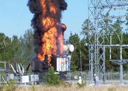 Bakıda və Biləsuvarda transformator yanıb