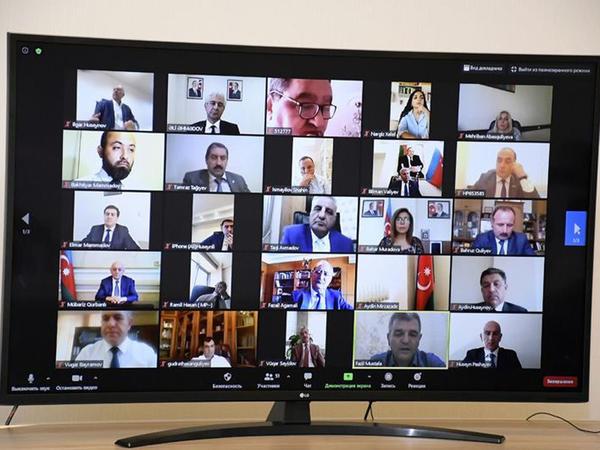 """""""Sosial şəbəkələr: milli maraqlar, siyasi və mənəvi məsuliyyət"""" mövzusunda videokonfrans keçirilib - FOTO"""