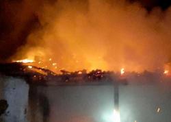 6 otaqlı ev yandı - FOTO