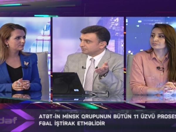 """Ermənistanın işğalçılıq siyasəti, terrorizmə dəstəyi """"Hədəf""""də müzakirə olunub"""