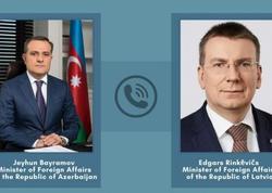 Ceyhun Bayramov Latviyalı həmkarı ilə Qarabağı müzakirə edib