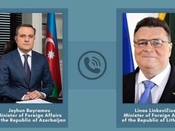 Ceyhun Bayramovun Litva Respublikasının Xarici İşlər naziri ilə telefon danışığı baş tutub