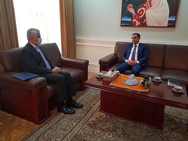 Azərbaycanın səfiri ilə Tacikistanın Xarici İşlər nazirinin birinci müavini arasında görüş olub - FOTO