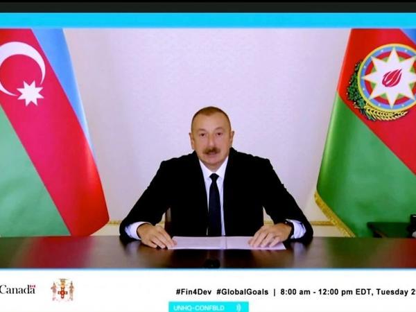 Prezident İlham Əliyev: Azərbaycan BMT-yə iki dəfə könüllü milli hesabat təqdim edən azsaylı ölkələrdən biridir