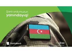 """""""Rabitəbank"""" ASC Silahlı Qüvvələrə Yardım Fonduna dəstək oldu"""
