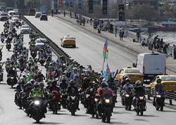 Türkiyə motosikletçilərindən Azərbaycana dəstək yürüşü - FOTO