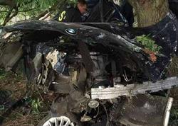 Saatda 200-lə avtomobili ağaca çırpan polis əməkdaşı öldü - FOTO