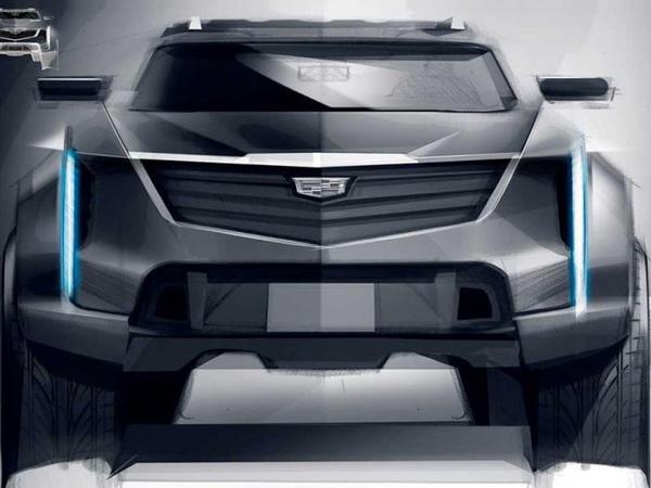 Brutal görünüşlü Cadillac ofrouderinin dizayner eskizi peyda olub - FOTO