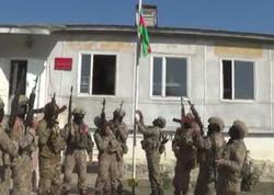 İşğaldan azad olunan Füzuli şəhərinin mərkəzində Azərbaycan bayrağı qaldırılıb - VİDEO