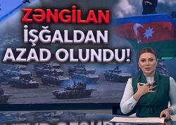 """Azərbaycanlı teleaparıcı Zəngilanın işğaldan azad olunması xəbərini göz yaşlarına boğularaq təqdim edib - <span class=""""color_red"""">VİDEO</span>"""