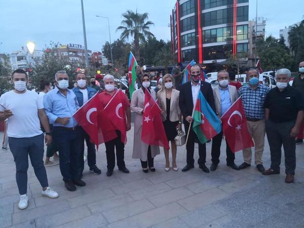 Antalyada Gəncə terroruna etiraz - FOTO