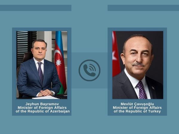 Azərbaycan və Türkiyə XİN başçılarının telefon danışığı olub