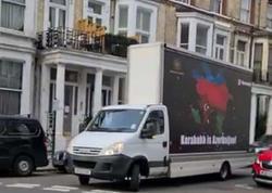 """&quot;Karabakh is Azerbaijan&quot; yazılı avtomobil Londonda Ermənistan səfirliyinin qarşısında - <span class=""""color_red"""">VİDEO - FOTO</span>"""