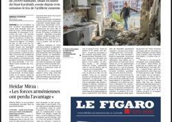 """""""Le Figaro"""": Azərbaycanın Tərtər şəhəri Ermənistan tərəfindən atəşə tutularaq dağıdılır"""