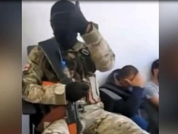 Gürcüstan bankında girov götürülənlərin VİDEOsu