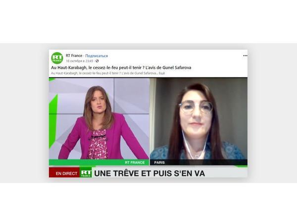 Fransa telekanalında Ermənistanın işğalçılıq siyasətindən danışılıb