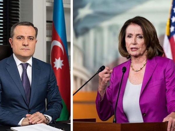 Ceyhun Bayramov Nensi Pelosi ilə Qarabağ problemindən danışıb