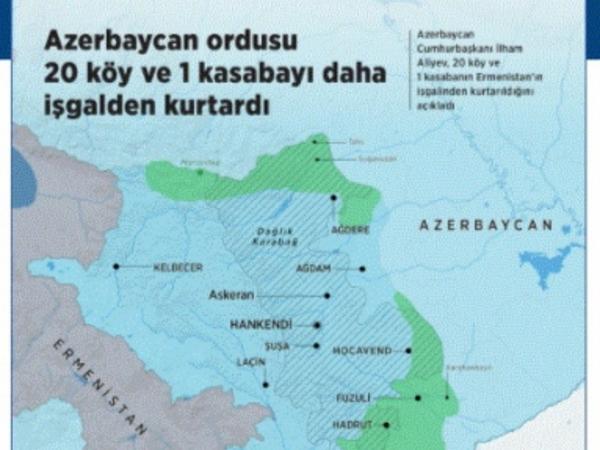 Anadolu agentliyi cəbhədəki vəziyyətlə bağlı infoqrafika hazırlayıb