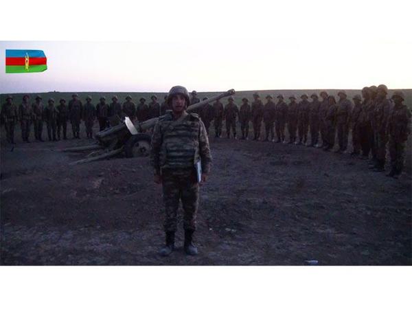 """Azərbaycan Ordusu yüksək əhval-ruhiyyə ilə işğal olunan torpaqlarımızı azad edir - <span class=""""color_red"""">VİDEO</span>"""