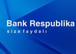 Bank Respublikanın xalis faiz gəlirləri artaraq 35,4 mln manat təşkil edib