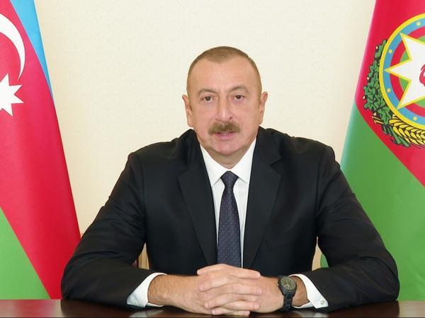 Prezident İlham Əliyev xalqa müraciət edib - FOTO
