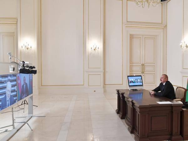 Prezident İlham Əliyev İtaliyanın Rai-1 televiziya kanalına müsahibə verib - FOTO