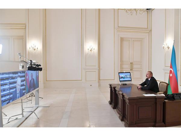 """Prezident İlham Əliyev: """"Ermənistan tərəfi baza prinsiplərini qəbul etdiyini bəyan etsə, biz çox tezliklə razılığa gələrik"""""""