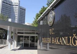Türkiyə XİN: Ermənistanın Bərdə şəhərinə qeyri-insani hücumunu qətiyyətlə pisləyirik