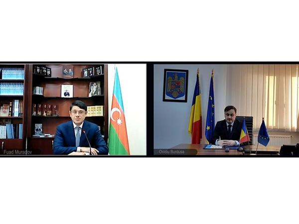 Rumıniyanın Dövlət katibi ilə virtual görüş keçirilib