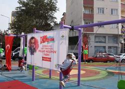 """Türkiyədə Polad Həşimovun adı verilən parkın açılışı oldu - <span class=""""color_red"""">FOTO</span>"""